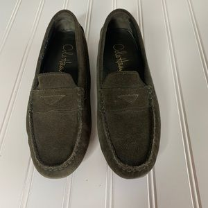 Cole Haan Loden olive green suede loafer size 6.5